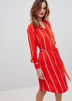 Y A S Striped Shirt Dress