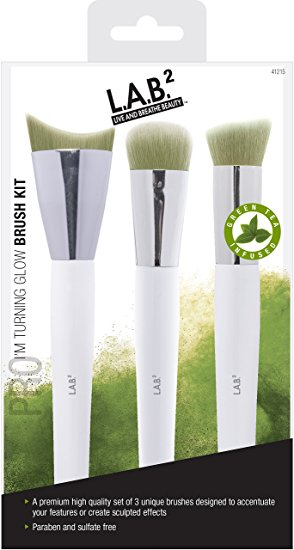 LAB 2 Green Tea Makeup Brushe Kit 2