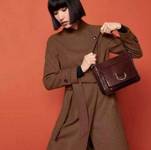 Chocolate Croc Shoulder Bag